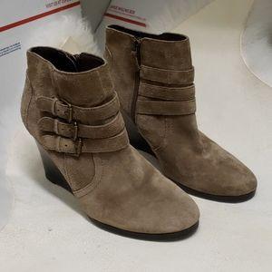 Franco Sarto Tan Leather Booties 9.5 Size